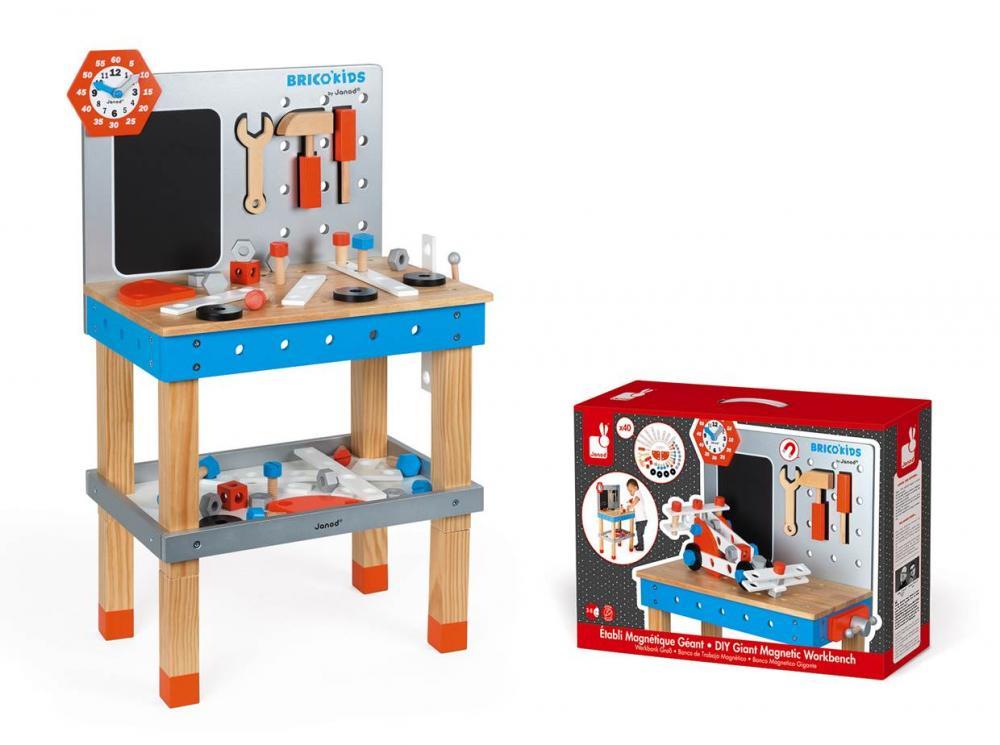 Janod BricoKids Detský Pracovný Stôl s náradím 40ks