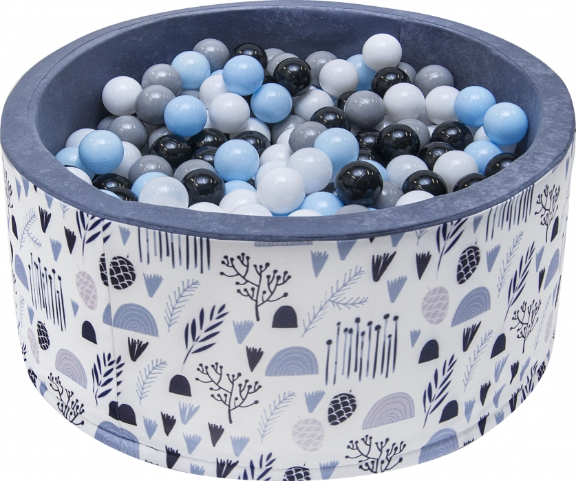Suchý bazén s loptičkami Lúka šedý