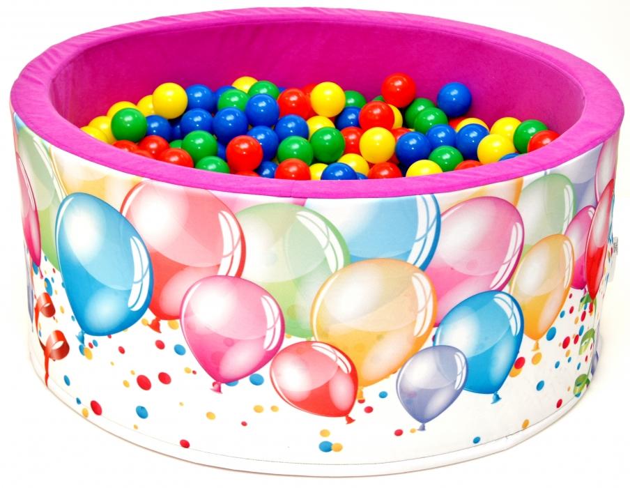 Suchý bazén s loptičkami ružový balónik
