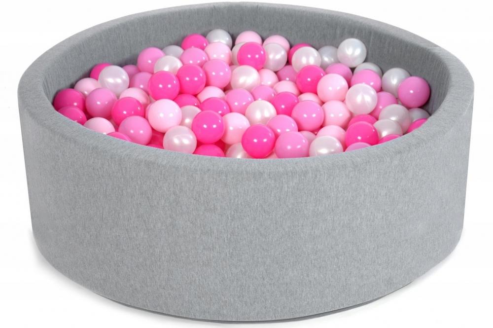 Suchý bazén s loptičkami sugar pink